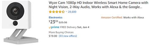 WyzeC2 camera
