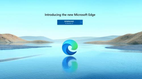 Edge download screen